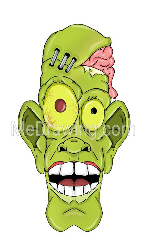 cartoon zombie head   drawing  deviantart