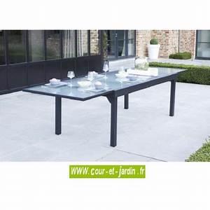 Table De Jardin Grise : table de jardin modulo 8 12 grise 200 320 ~ Teatrodelosmanantiales.com Idées de Décoration