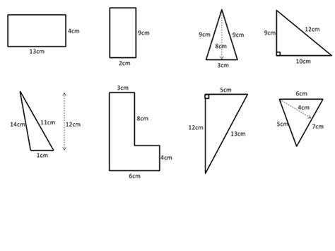 Area Of Triangles And Quadrilaterals Worksheet Oaklandeffect