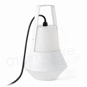 Lampe De Table Exterieur : lampe exterieur cat blanc faro 71563 ~ Teatrodelosmanantiales.com Idées de Décoration