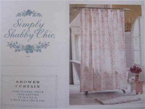 shabby chic shower curtains ashwell shabby chic rachel ashwell pink floral toile shower curtain ebay
