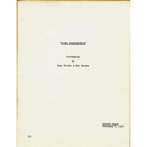 While it is primarily a 20. Young Frankenstein script signed by Mel Brooks