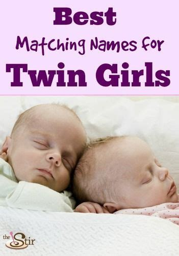 20 Perfect Pairs of Baby Names for Twin Girls | Twin baby ...