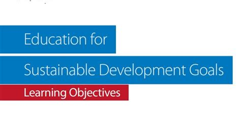education  sustainable development goals learning