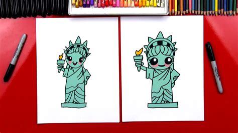 draw  statue  liberty art  kids hub