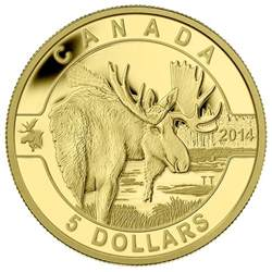 silver gift items 2014 5 gold coin o canada moose royal canadian