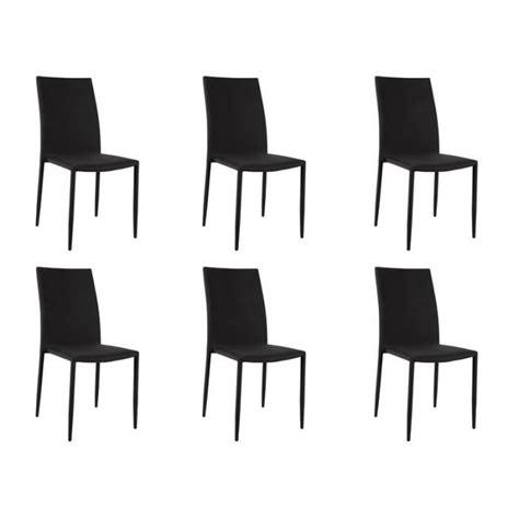 lot 6 chaises loola lot 6 chaises noires achat vente chaise salle a
