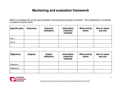 evaluation framework  evaluation