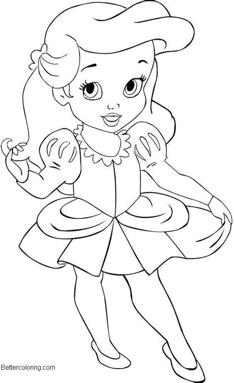 baby disney princess coloring pages easy drawing