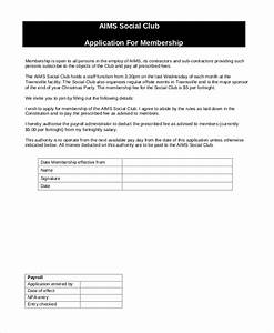 12 sample membership application forms sample forms With social club membership application form template
