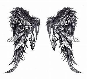 很好看的翅膀纹身手稿第2页