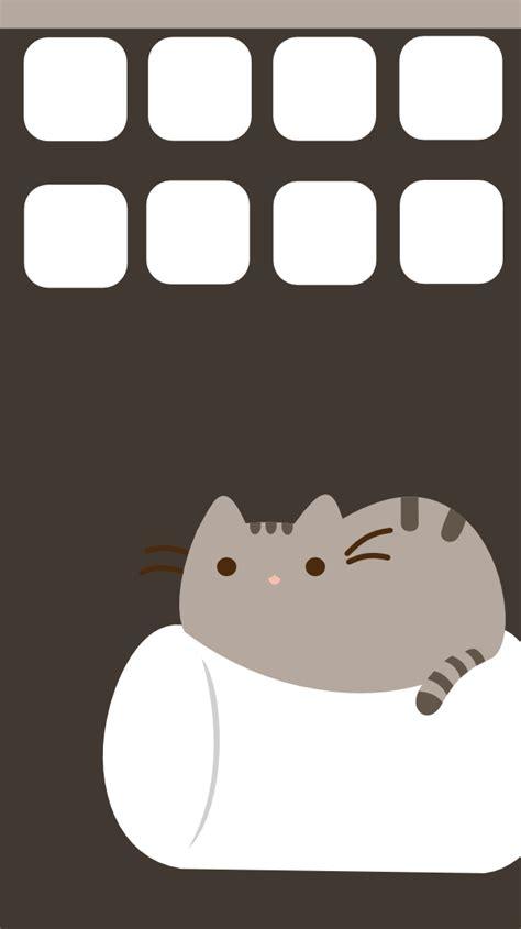 pusheen cat desktop wallpaper wallpapersafari