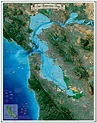 San Francisco Bay Map, Coastal California Series ...