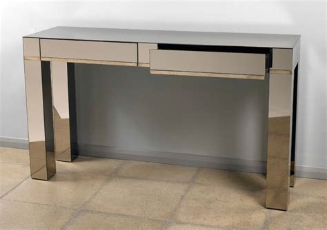 top console table best modern mirrored console table with drawers colour 5843