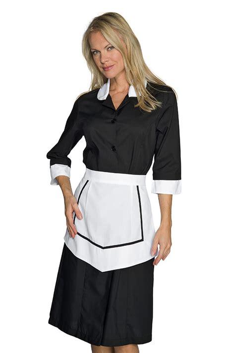 blouse femme de chambre hotellerie ensemble femme de chambre blouse et tablier noir et blanc