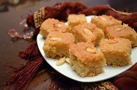 cuisine egyptienne vegan basbousa semolina cake one vegan