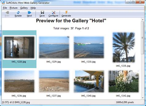 Image To Html Converter  Softorbits Html Web Gallery Creator