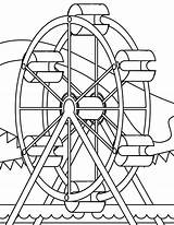 Carnival Coloring Pages Rides sketch template
