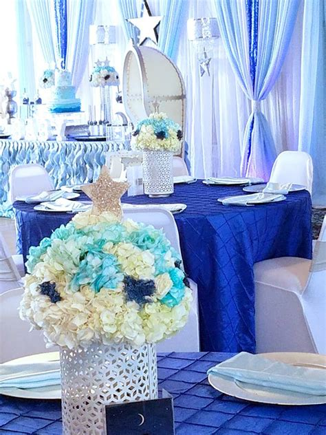 shower baby starry night decorations babyshowerideas4u theme table guest star games themes boy showers moon centerpieces
