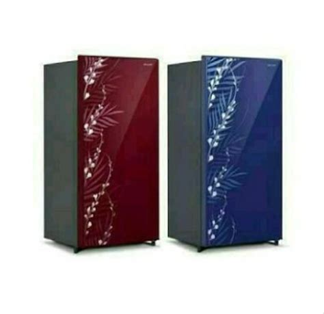jual kulkas sharp 1 pintu sjx165mg fb or fr motif bunga 109liter di lapak glodokelektronik