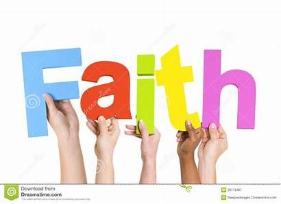 Faith Word Ethnic Holding Multi Hands Clip