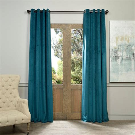 blue curtain panels exclusive fabrics furnishings blackout signature