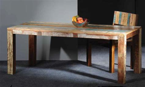 Modern Wood Dining Table, Reclaimed Wood Dining Neapolitan