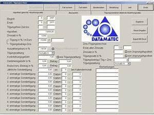 Dampfdruck Berechnen : datamatec tilgungsrechner kostenlos downloaden ~ Themetempest.com Abrechnung