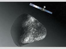 an artist s rendering of the rosetta spacecraft at comet