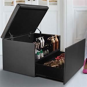 Coffre Rangement Chaussure : coffre rangement banquette luxe gris sp cial chaussures accessoire ~ Teatrodelosmanantiales.com Idées de Décoration