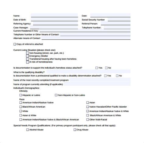 sample rental assistance form