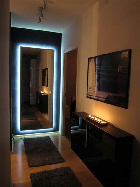 Led Lights For Room Ikea by Ikea Mirror Transformed With Nightclub Chic Led Lighting