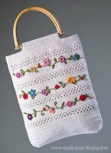 Crochet Bag  Free Pattern  Diagrams Only  On This Russian Site  Purse  Tote