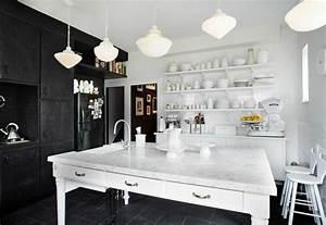osez la decoration noir et blanc pour votre cuisine With decoration cuisine noir et blanc