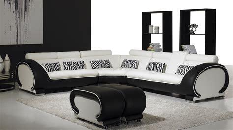 vente canape canape angle noir blanc