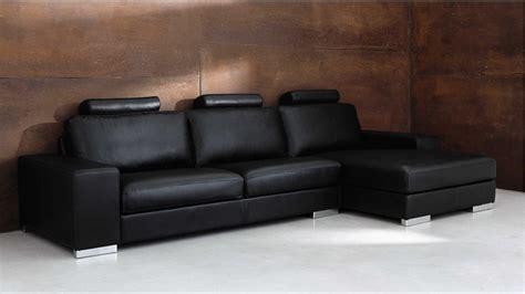 canape cuir maison du monde canapé d 39 angle 5 places en cuir noir daytona soldes
