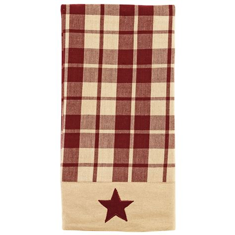 country kitchen towels primitive farmhouse country kitchen towel burgundy 2916