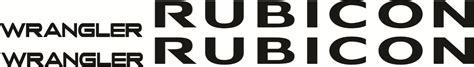jeep wrangler rubicon logo jeep wrangle rubicon unlimited logos emblemas calcas