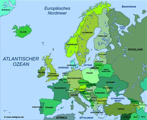 Europa Karte Deutsch