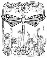 Dragonfly Coloring Pages Adult Printable Clip Printablee Via sketch template