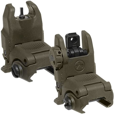 Magpul MBUS Gen II Front & Rear Sight Set - OD Green