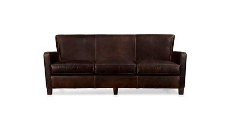 briarwood leather sofa reviews crate  barrel