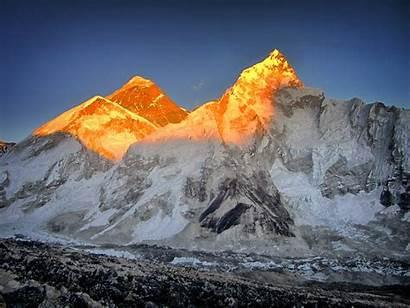 Everest Mount Nepal China Border Sunlight