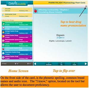 Great Medical App For Staying Fresh On Medications And Pharmacology  Davis Mobile  U0026quot Pharm Phlash  U0026quot