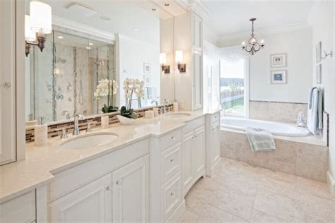 White Spa Bathroom by Traditional White Bathroom With Vanity