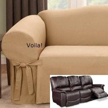 Sofa Covers For Reclining Sofas by Reclining Sofa Slipcover Gold Latte Ribbed Texture Adapted