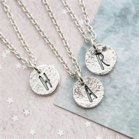 Silver Initial Necklace By Green River Studio ...
