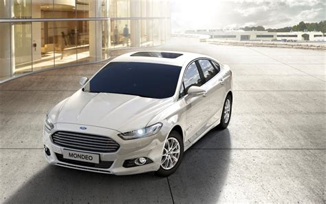 American Hybrid Cars by Wallpapers Ford Mondeo Hybrid 2018 White Sedan