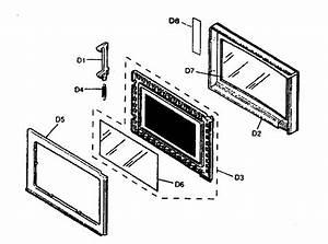 Door Parts Diagram  U0026 Parts List For Model Nnt764sf Panasonic