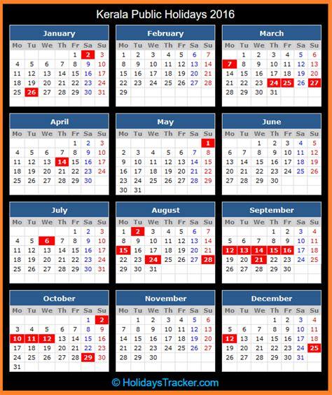 Kerala (india) Public Holidays 2016  Holidays Tracker